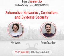 Automotive Networks, Controllers, and Systems Training at Hardwear.io